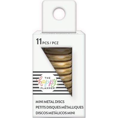 "Create 365 rings - Happy Planner Metal Discs - Gold .75"""