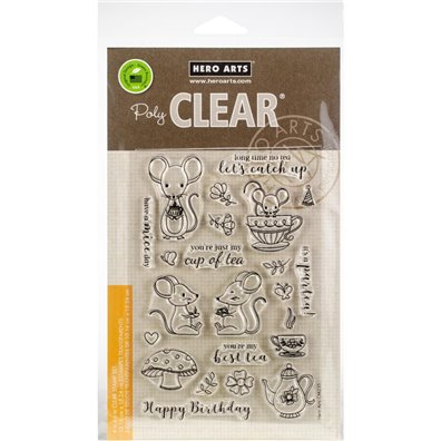 Hero Arts Clear Stamp - Mouse Tea Party