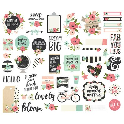 Bloom Ephemera Die-Cut Bits and Pieces fra Simple Stories