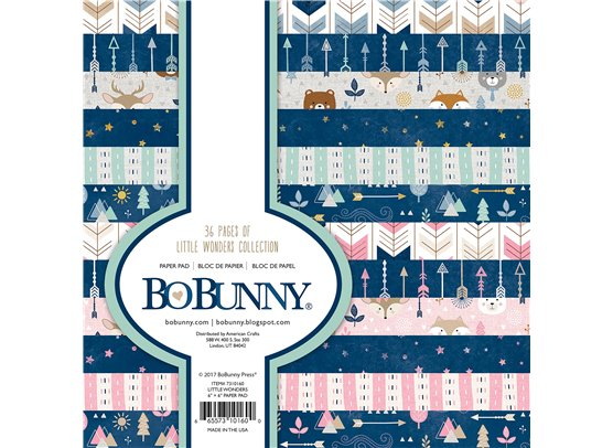 Bo Bunny Little Wonders 6x6 paper pad