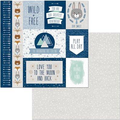 Little Wonders - Grayson - Mønsterpapir fra Bo Bunny