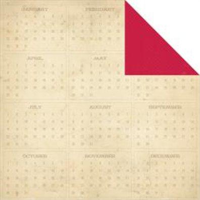 Simple Stories 24/Seven Mønsterpapir Red Tweed/ Calendar