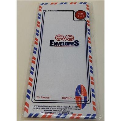 Air Mail Kuverter 20 stk. 10,2 x 22,9 cm