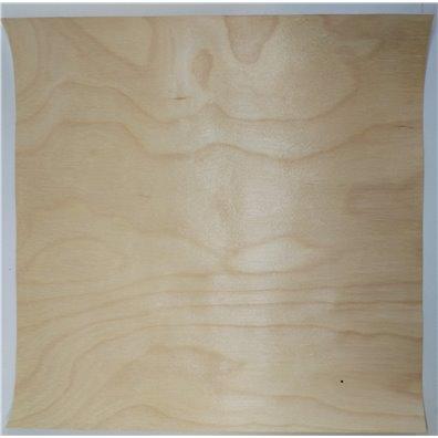 Hvid Birk Rigtig Træ 12x12 ark - hvid bagside