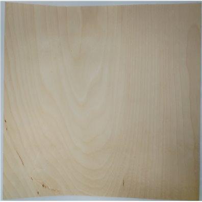 Hvid Birk Rigtig Træ 12x12 ark - Selvklæbende bagside