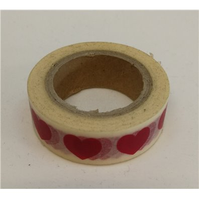 Freckled Fawn washi tape Red Heart Line