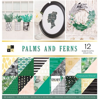 "DCWV Palms & Ferns 12""x12"" Double-sided Cardstock Stack"