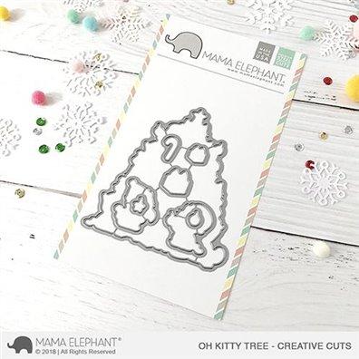 Mama Elephant Creative Cuts - Oh Kitty Tree