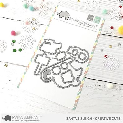 Mama Elephant Creative Cuts - Santa's Sleigh
