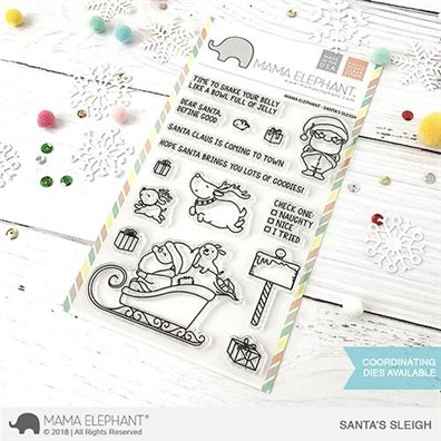 Mama Elephant Clear Stamps - Santa's Sleigh