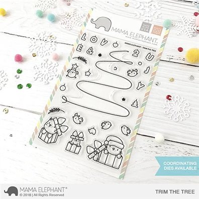 Mama Elephant Clear Stamps - Trim the Tree