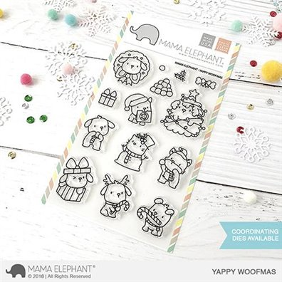 Mama Elephant Clear Stamps - Yappy Woofmas