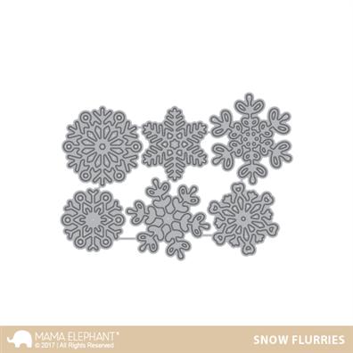 Mama Elephant Creative Cuts - Snow Flurries