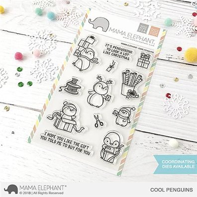 Mama Elephant Clear Stamps - Cool Penguins