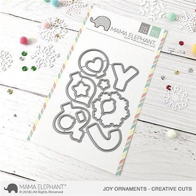 Mama Elephant Creative Cuts - Joy Ornaments