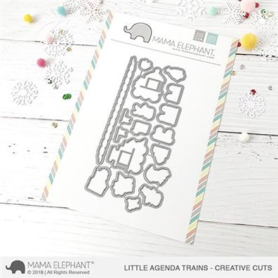 Mama Elephant Creative Cuts - Little Agenda Trains