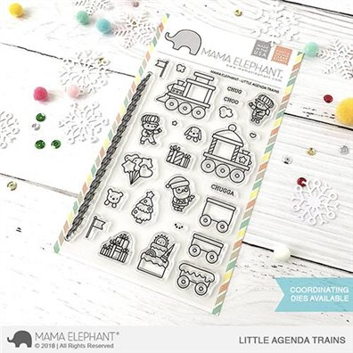 Mama Elephant Clear Stamps - Little Agenda Trains
