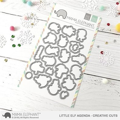 Mama Elephant Creative Cuts - Little Elf Agenda