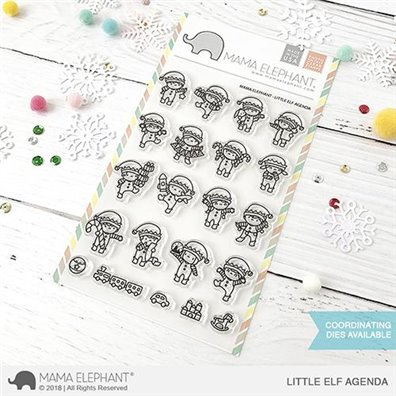 Mama Elephant Clear Stamps - Little Elf Agenda