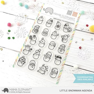 Mama Elephant Clear Stamps - Little Snowman Agenda