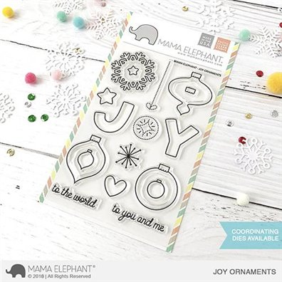 Mama Elephant Clear Stamps - Joy Ornaments