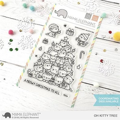 Mama Elephant Clear Stamps - Oh Kitty Tree