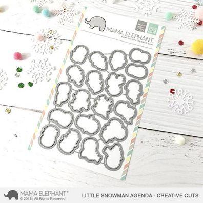 Mama Elephant Creative Cuts - Little Snowman Agenda