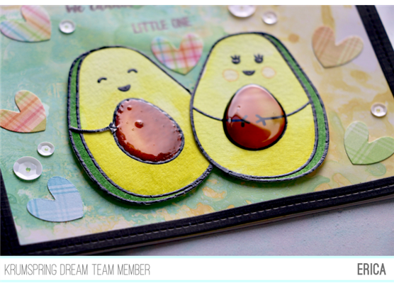 Krumspring clear stamp - Avocado family