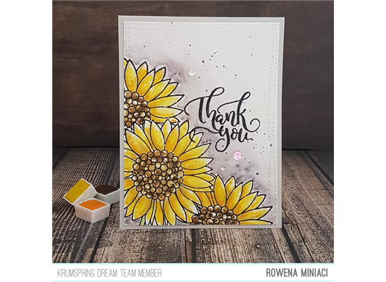 Krumspring clear stamp - For my sunflower