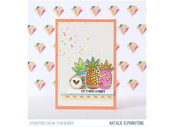 Krumspring clear stamp - Funky pineapples