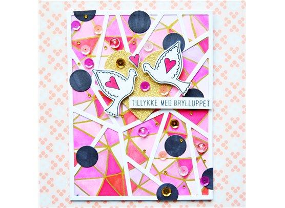 Krumspring clear stamp - Lovebirds