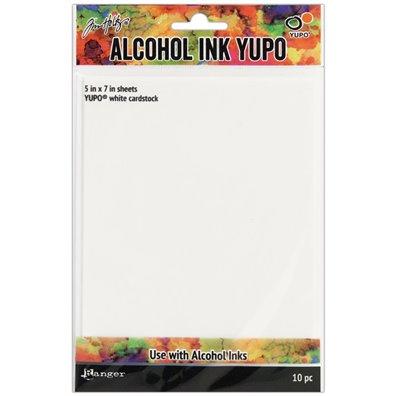 """Tim Holtz Alcohol Ink White Yupo Paper - 5""""x7"""" - 10 stk"""