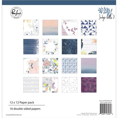 Pinkfresh Studio Indigo Hills 2 12x12 Double Sided Paper Pack
