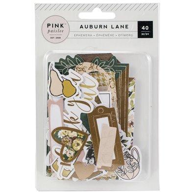 Auburn Lane Ephemera Cardstock Die-cuts fra Pink Paislee