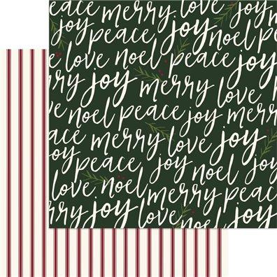 Winterberry - Merrily - Mønsterpapir fra My Minds Eye