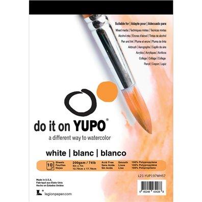 """Yupo Paper 5""""x7"""" - White 74lb - 10 stk"""