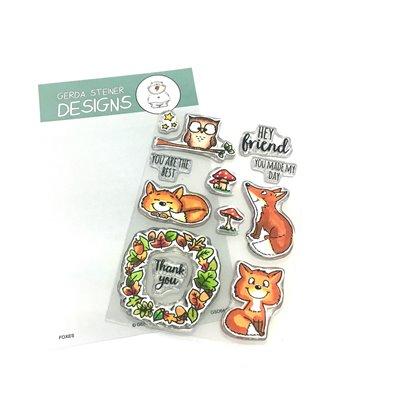 Gerda Steiner Designs Clear Stamp - Foxes