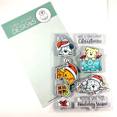 Gerda Steiner Designs Clear Stamp - Christmas Puppies