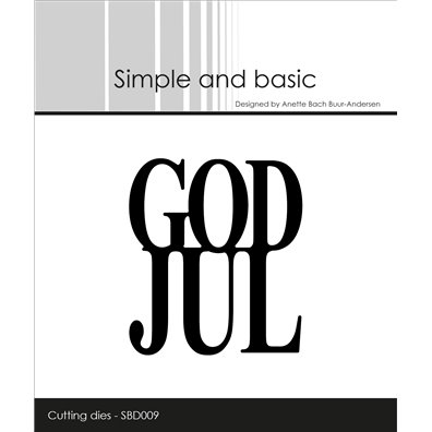 Simple and basic dies - God Jul