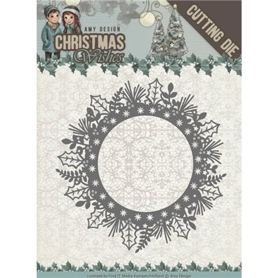 Amy Design Dies - Christmas Wishes - Holly Wreath