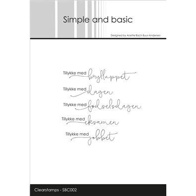 Simple and basic stempler - Tillykke med brylluppet