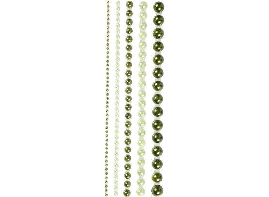 Halvperler Grønne 2-8 mm fra Vivi Gade