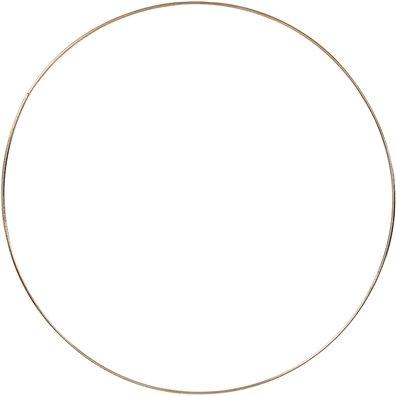 Metalring, diam. 30cm - Guld