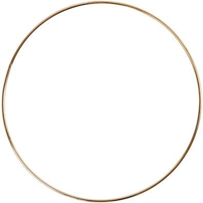 Metalring, diam. 20cm - Guld