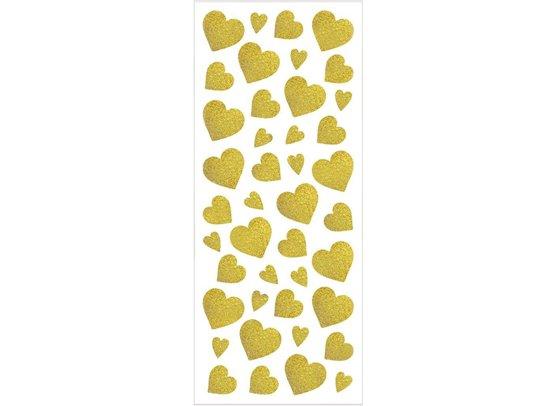 Glitter stickers - Guld hjerter