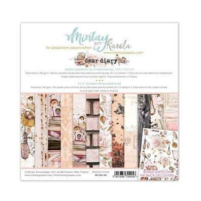 Mintay By Karola Dear Diary 6x6 Paper Pad