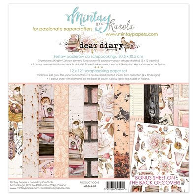 Mintay By Karola Dear Diary Paper Pack