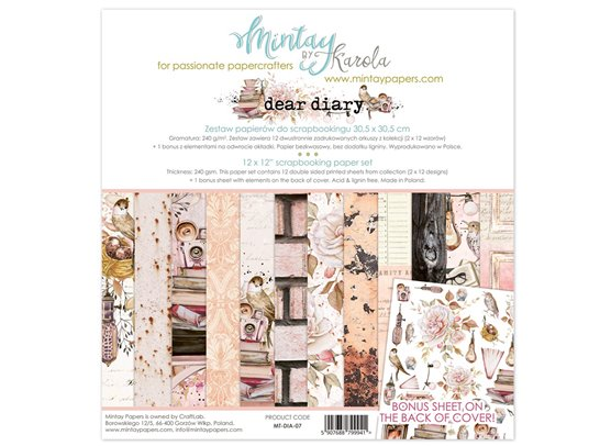 Mintay By Karola Dear Diary Paper Pack
