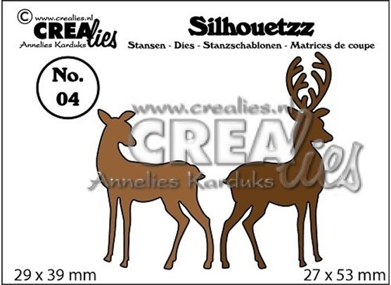 Crealies Silhouetzz Die - Reindeer