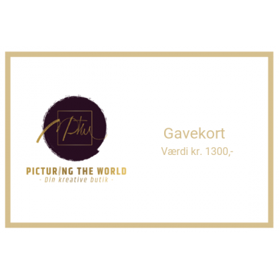 Gavekort - 1300 kr.